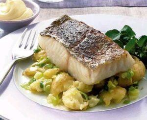 Grilled hake fish