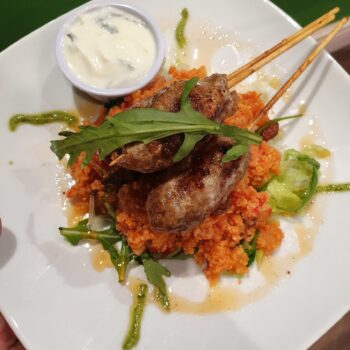 El Fuego Spiced Meat Kebab served with Aromatic Rice